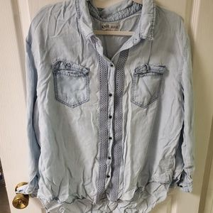 Knox Rose chambray long-sleeve button down